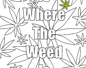 Weed coloring #8, Download drawings
