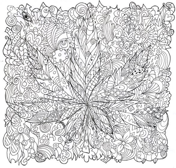 Cannabis coloring #2, Download drawings