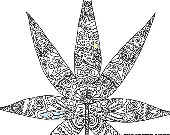 Weed coloring #17, Download drawings