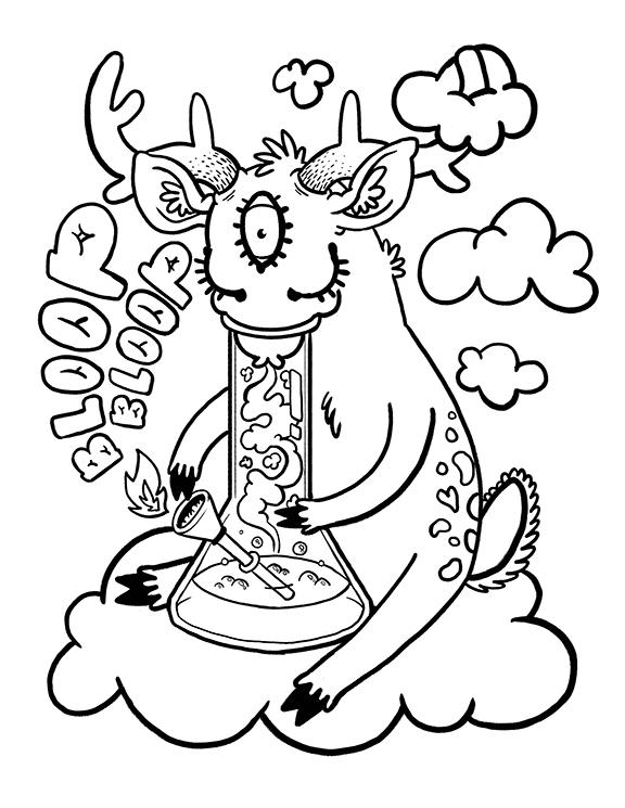 Weeds coloring #12, Download drawings