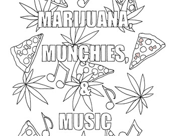Weed coloring #16, Download drawings