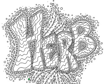 Weed coloring #15, Download drawings