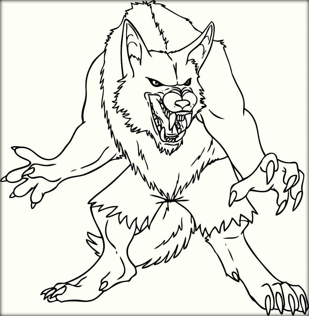 Werewolf coloring #15, Download drawings