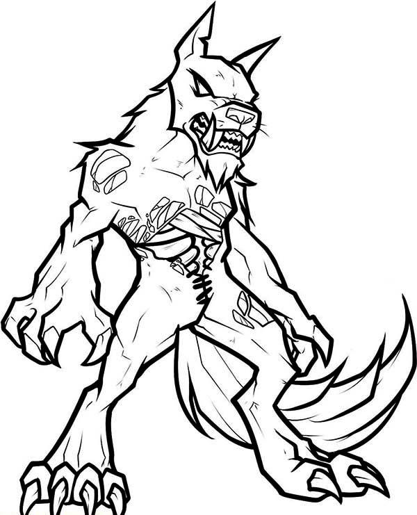 Werewolf coloring #11, Download drawings