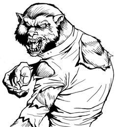 Werewolf coloring #7, Download drawings