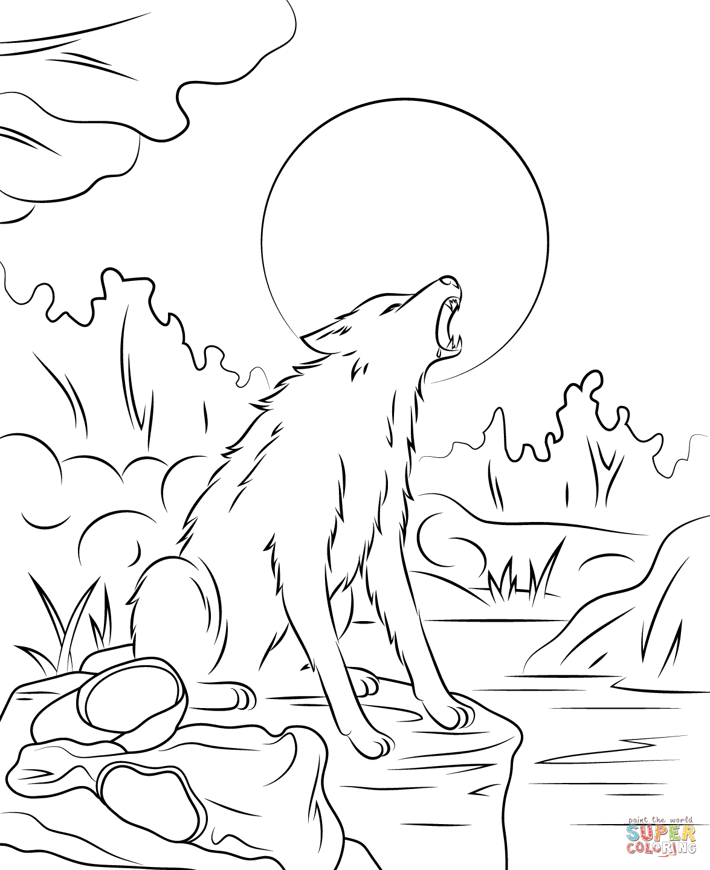 Werewolf coloring #10, Download drawings