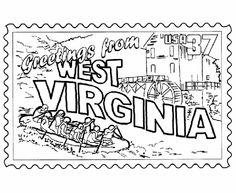 West Virginia coloring #8, Download drawings