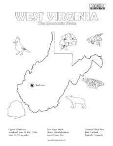 West Virginia coloring #5, Download drawings