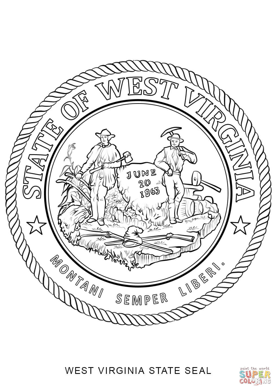 West Virginia coloring #11, Download drawings
