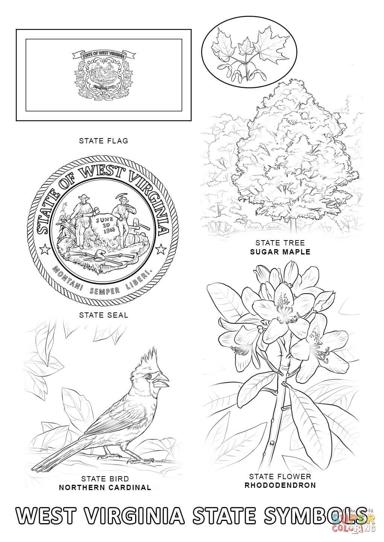 West Virginia coloring #6, Download drawings