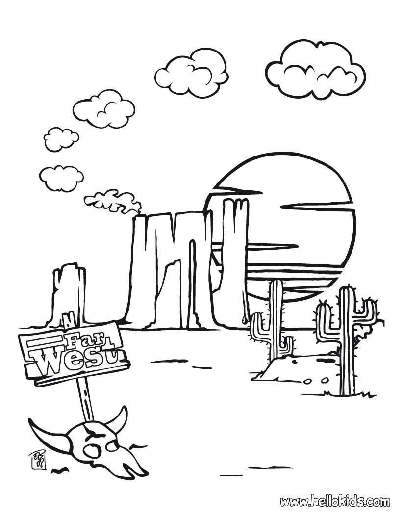 Western coloring #11, Download drawings