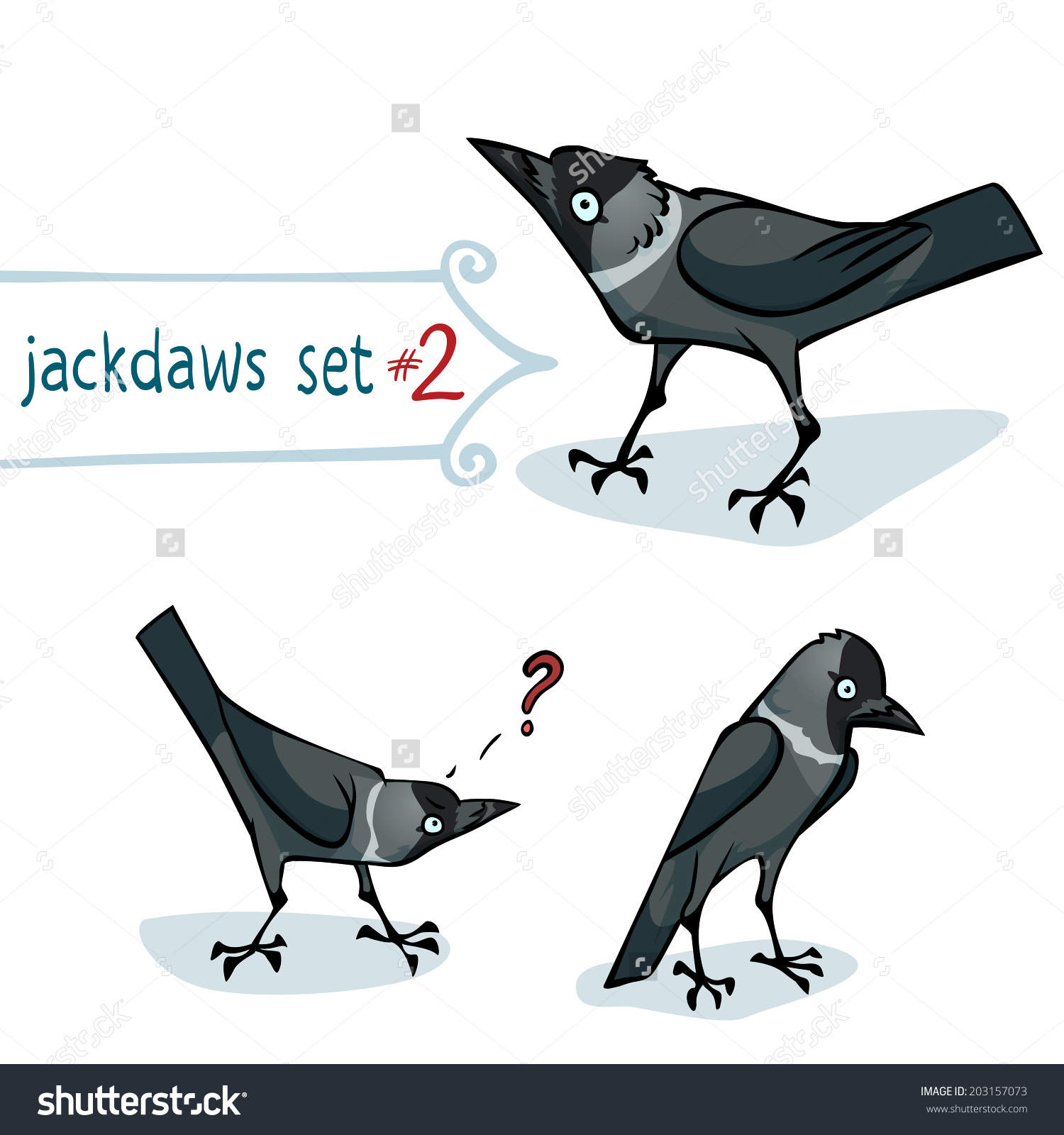 Western Jackdaw clipart #1, Download drawings