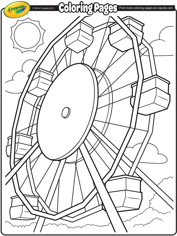 Ferris Wheel coloring #5, Download drawings
