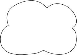 White Cloud clipart #1, Download drawings