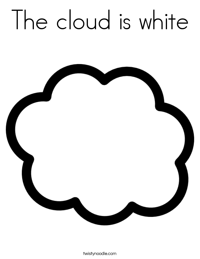 White Cloud coloring #4, Download drawings
