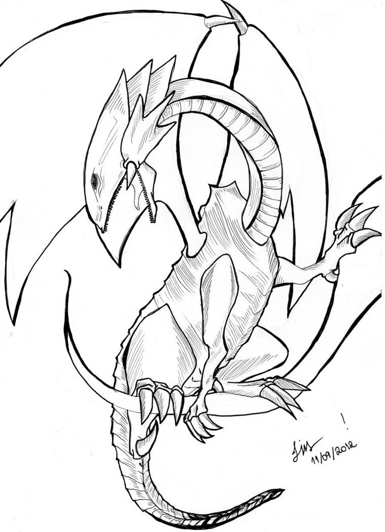 White Dragon coloring, Download White Dragon coloring for ...