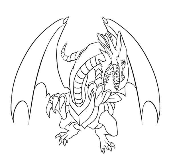 White Dragon coloring #6, Download drawings