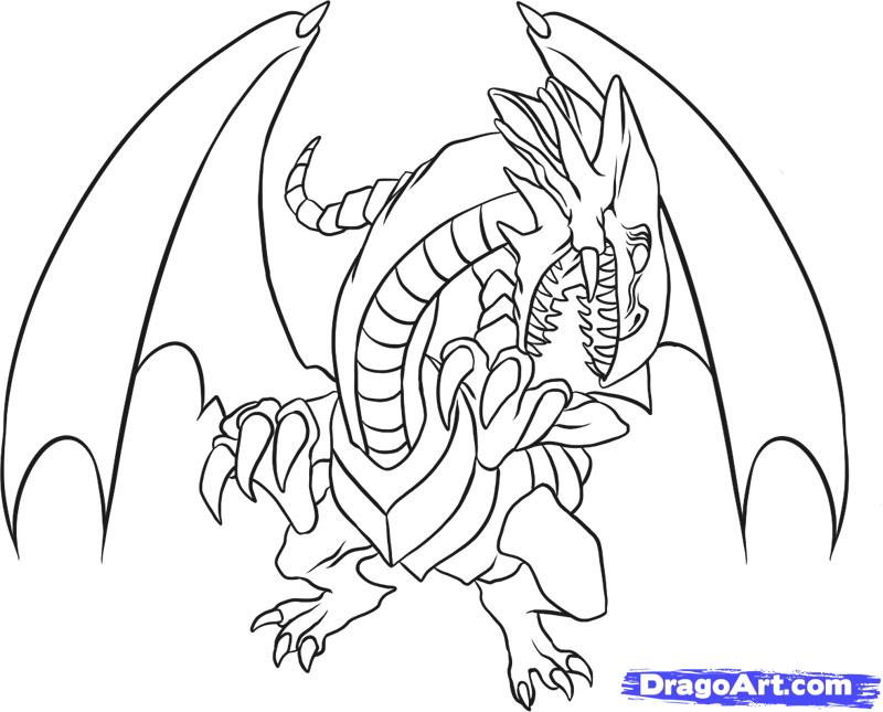 White Dragon coloring #9, Download drawings