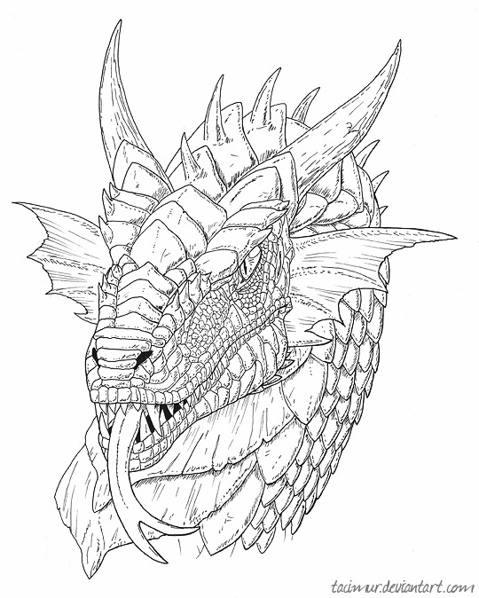 White Dragon coloring #5, Download drawings