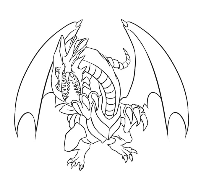 White Dragon coloring #15, Download drawings