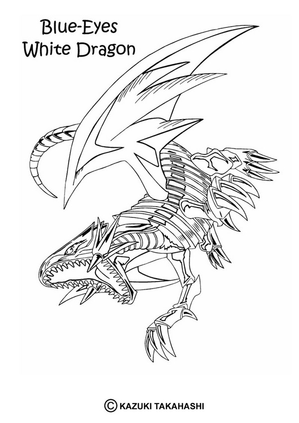 White Dragon coloring #10, Download drawings