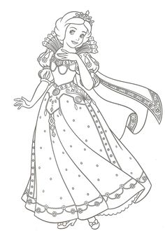 White Dress coloring #12, Download drawings
