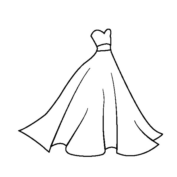White Dress coloring #17, Download drawings