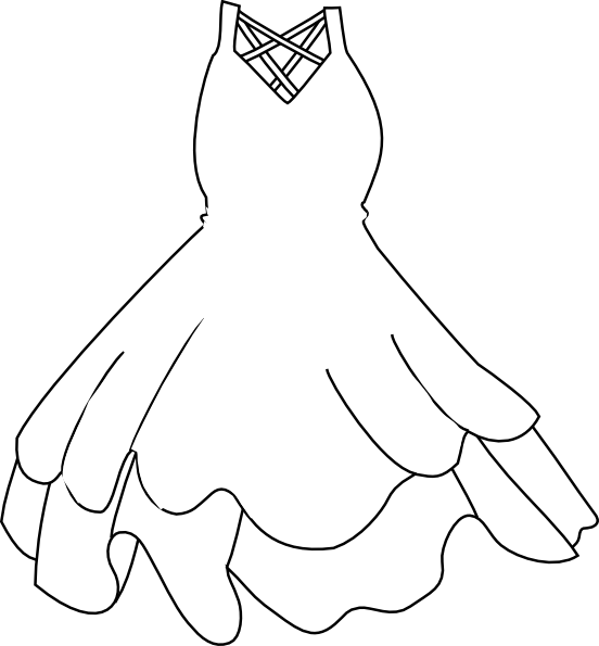 White Dress svg #11, Download drawings