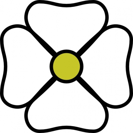 White Flower clipart #3, Download drawings