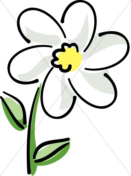 White Flower clipart #11, Download drawings