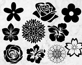 White Flower svg #5, Download drawings