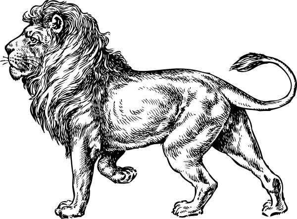 White Lion svg #9, Download drawings