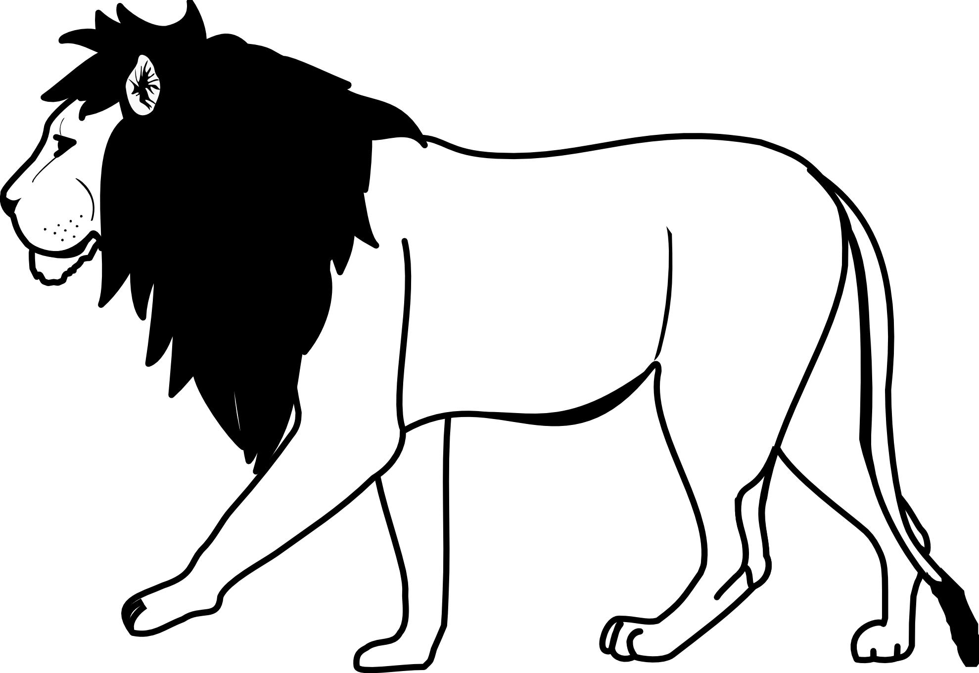 White Lion svg #2, Download drawings