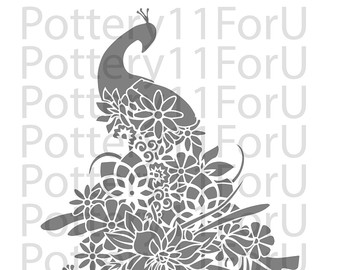 White Peafowl svg #9, Download drawings