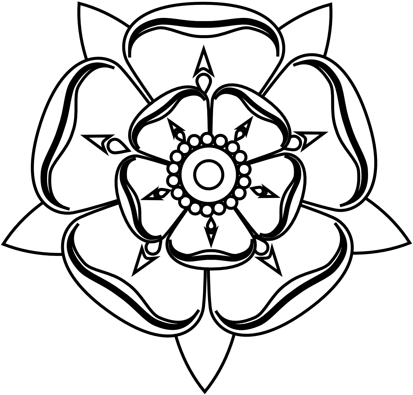 White Rose coloring #5, Download drawings