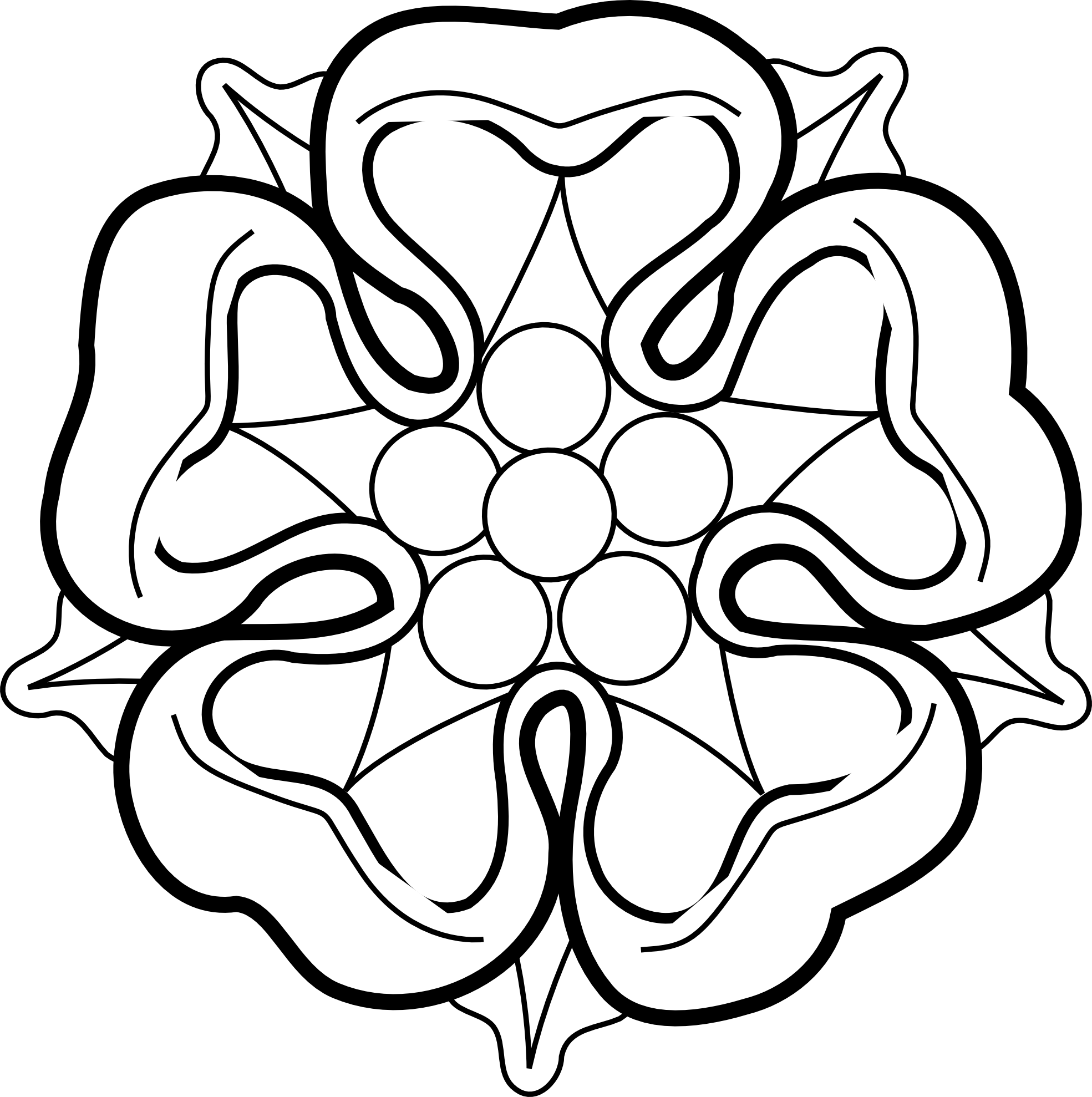White Rose coloring #1, Download drawings