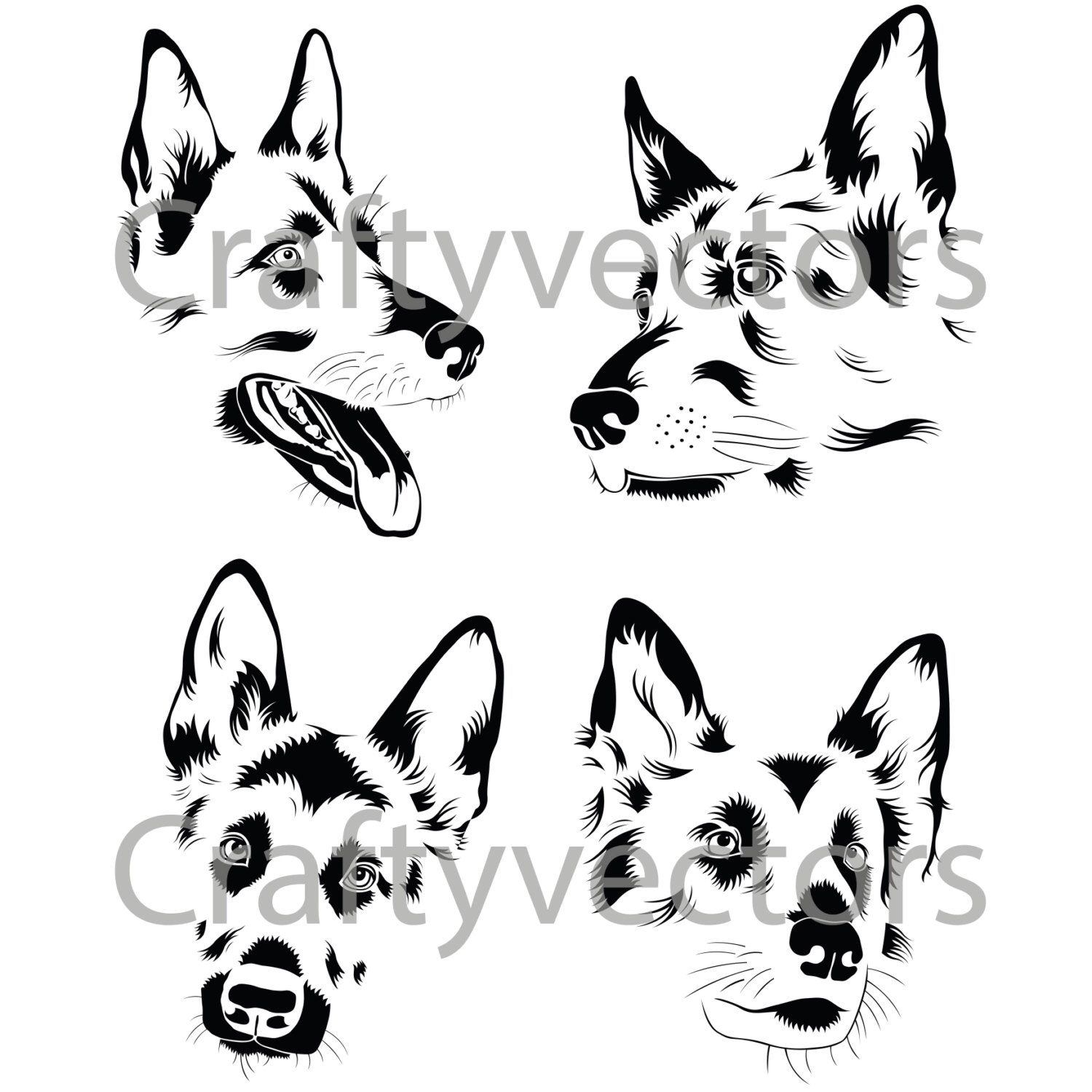 White Shepherd svg #7, Download drawings