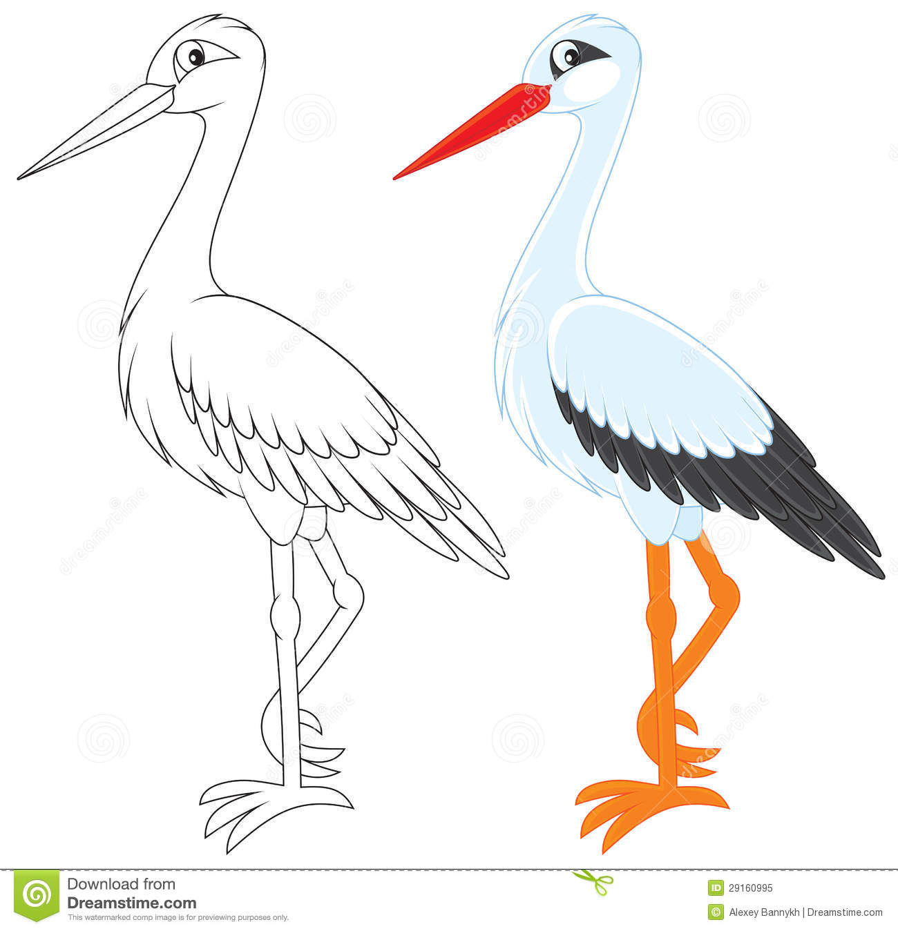 White Stork clipart #18, Download drawings