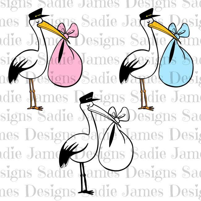 White Stork svg #17, Download drawings