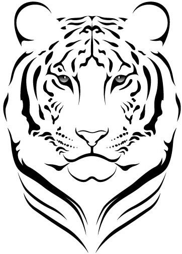 White Tiger svg #13, Download drawings