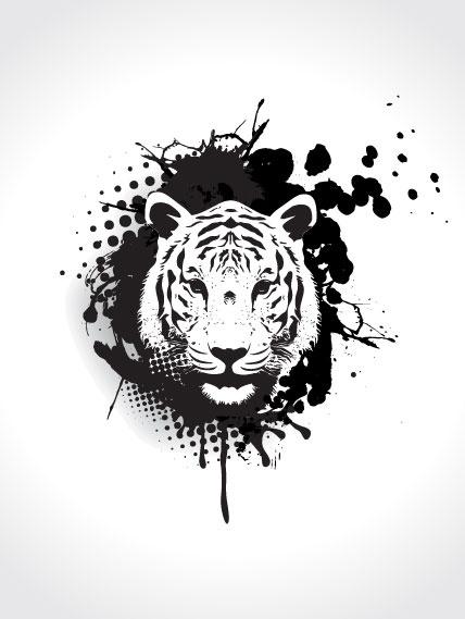 White Tiger svg #14, Download drawings