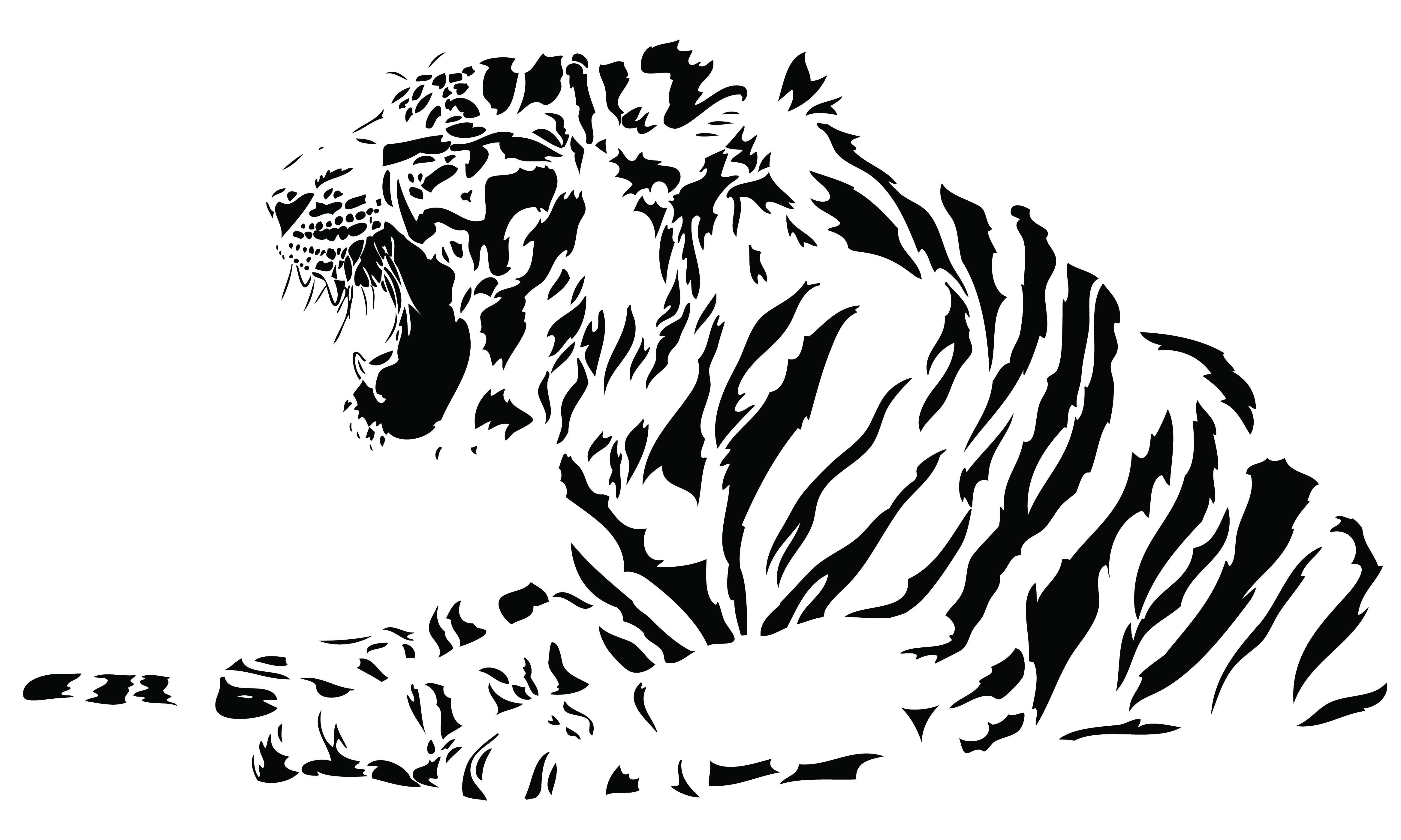 White Tiger svg #7, Download drawings