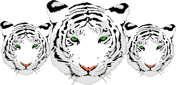 White Tiger svg #2, Download drawings
