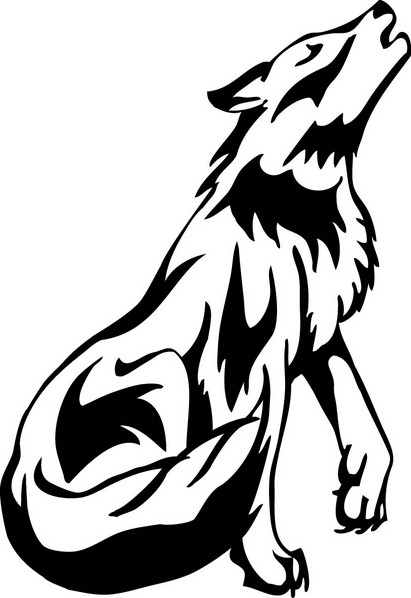 White Wolf clipart #3, Download drawings