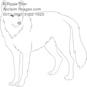 White Wolf clipart #6, Download drawings