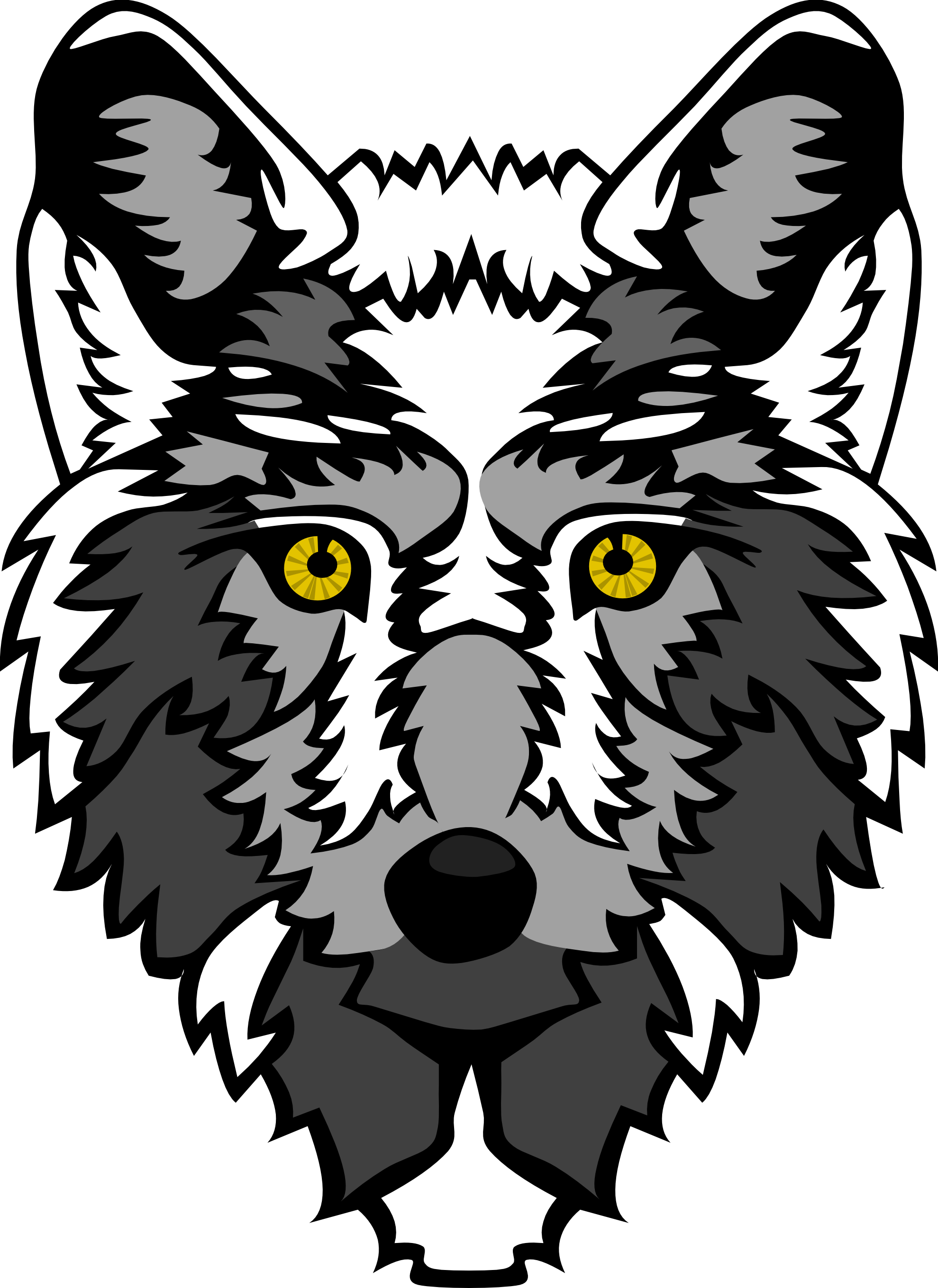White Wolf svg #19, Download drawings