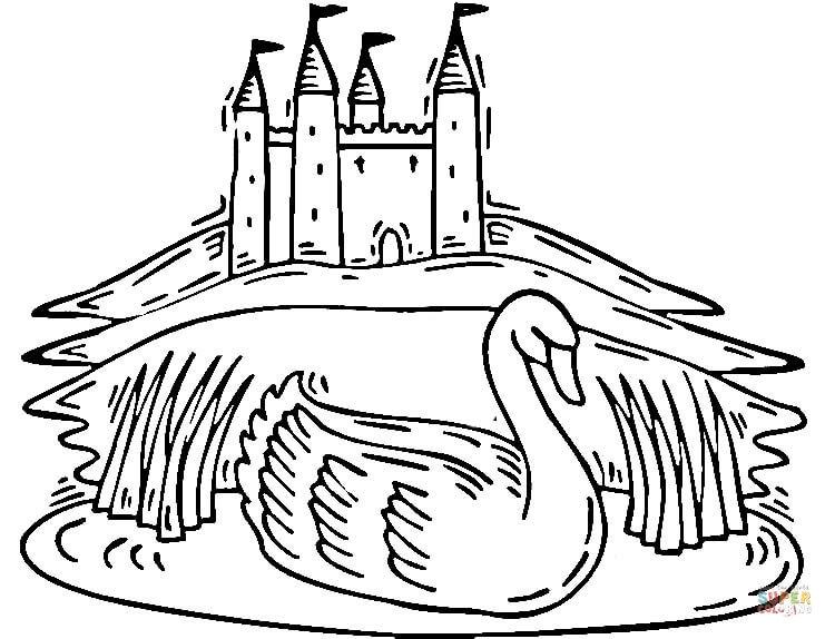 Whooper Swan coloring #16, Download drawings