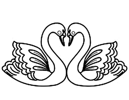 Whooper Swan coloring #13, Download drawings