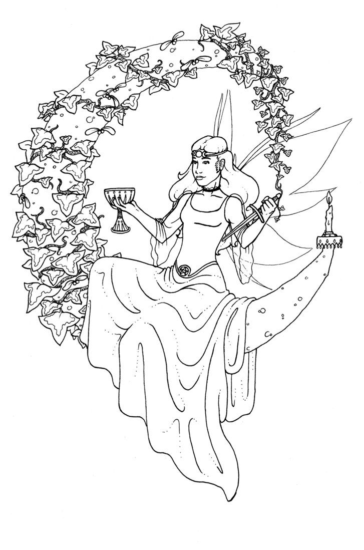 Wiccan coloring #4, Download drawings
