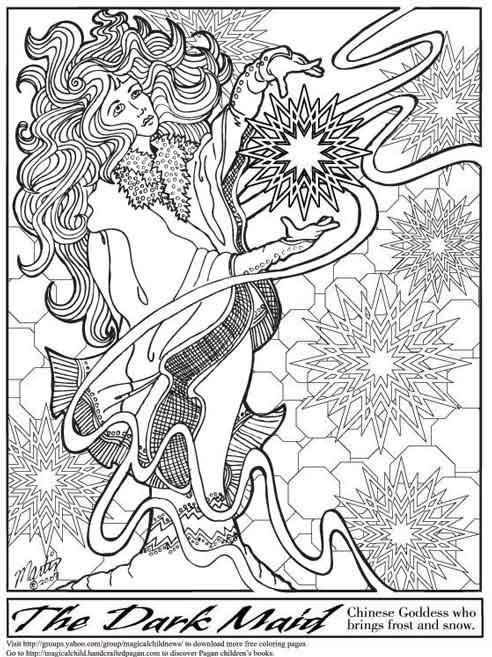 Wiccan coloring #3, Download drawings